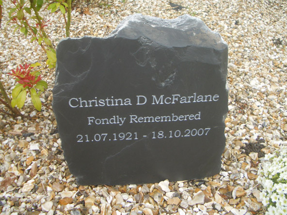 superb memorial stone using welsh slate