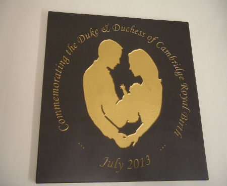 Royal Baby Commemorative Plaque / Plate